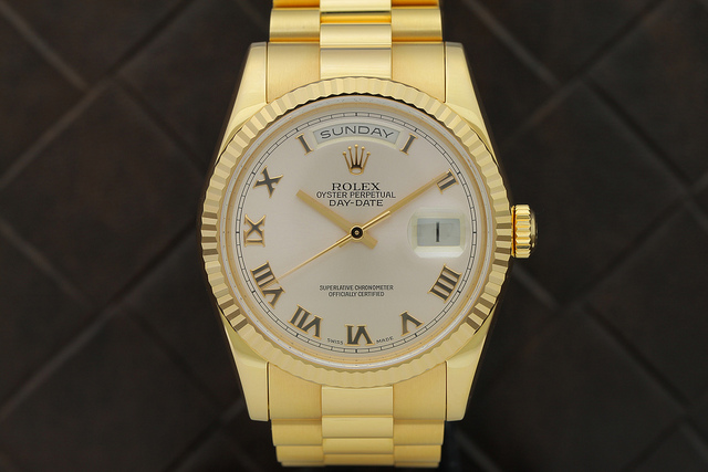 A very expensive Rolex watch.